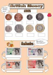 English teaching worksheets: British money