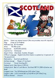English Worksheet: Speak about English-speaking countries:Scotland