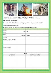 Printables Pearl Harbor Worksheet english worksheet movie pearl harbor harbor