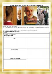 English Worksheets: MOVIE :FINDING FORRESTER
