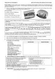 English Worksheets: Advantages and disadvanatges