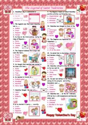 English Worksheet: The Legend of Saint Valentine
