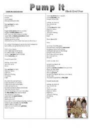 English teaching worksheets: Black Eyed Peas