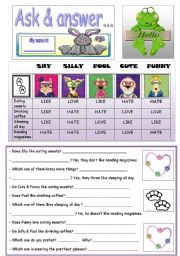 English Worksheets: ASK & ANSWER