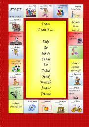 English Worksheets: Can for abilities and permission - board game