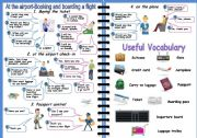 English Worksheets: Airport: How to book and board a flight (2 PAGES)