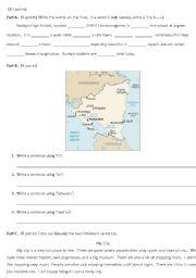 English Worksheets: Writing Test 4