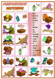 English Worksheets: Prepositions Practice - reading � grammar � 3 tasks � 2 pages � editable