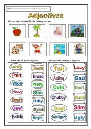 Adjective Worksheets Kindergarten & adjectives worksheets ...
