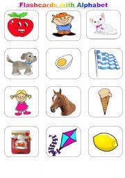 Flashcards with Alphabet