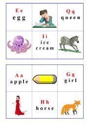 Bingo Alphabet cards