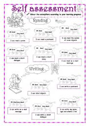 English Worksheet: Self-Assessment (3/3) - Reading / Writing