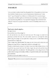 English Worksheets: Parables