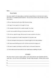 English Worksheets: Mrs. Gillespie