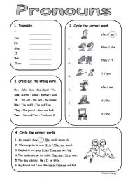 Printables Personal Pronouns Worksheet english teaching worksheets personal pronouns very basic subject pronouns