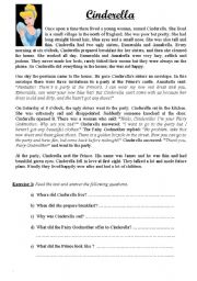 English Worksheet: A fairy tale: Cinderella
