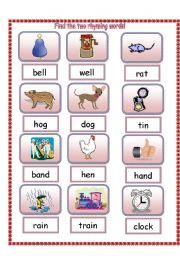 Printables Kids Ramying Words esl kids worksheets find the two rhyming words english worksheet words