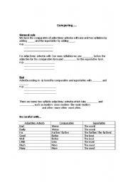 English worksheet: Comparative