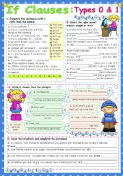 English Worksheet: IF Clauses  -  Types 0 & 1