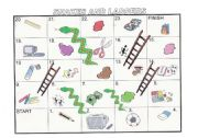 Snakes and Ladders.Vocabulary Review