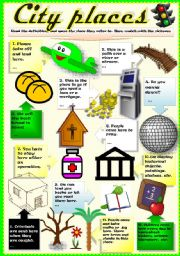 English Worksheet: PLACES IN TOWN (Part II)