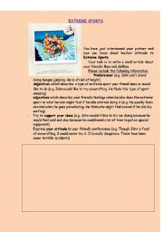 English Worksheets: Writing a small article about your friend�s likes and dislikes.
