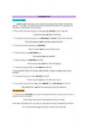 English Worksheets: Coordination