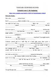 English Worksheet: Tangled activities
