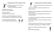English Worksheets: Thanking People and Responding to Thanks