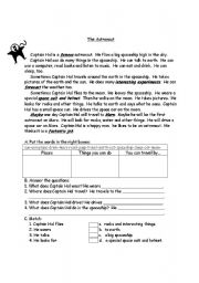 English Worksheets: Captain Hal The Astronaut