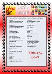 English Worksheet: GLEE SERIES � SONGS FOR CLASS! S01E10 � FOUR SONGS � FULLY EDITABLE WITH KEY!