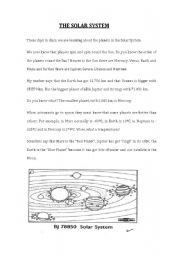 solar system comprehension worksheets grade 3 page 2 pics about space. Black Bedroom Furniture Sets. Home Design Ideas