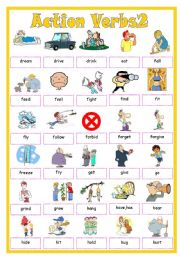English Worksheets: Action Verbs2