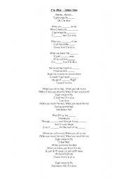 English Worksheets: I am alive Celine Dion