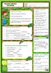 English Worksheet: Possessive adjectives vs. possessive pronouns