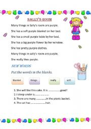 English Worksheets: Sally�s room