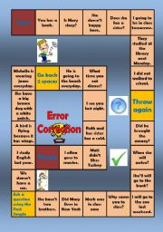 English Worksheets: Error Correction for beginners