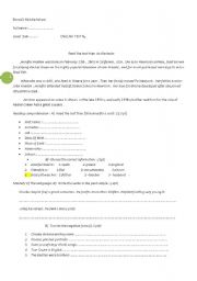 English Worksheets: Jennifer Aniston