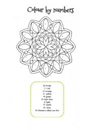 MANDALA COLOUR BY NUMBERS