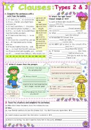 English Worksheets: IF Clauses  -  Types 2 & 3