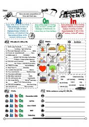 English Worksheet: Grammar Focus Series 14_Prepositions Of Time AT ON IN (Fully Editable + Key)