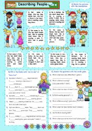 English Worksheets: Describing People