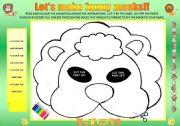 English Worksheets: LET�S MAKE FUNNY MASKS!!!!!!