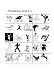 English Worksheets: Action Game