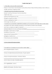 English Worksheet: Complex object  (part 2)