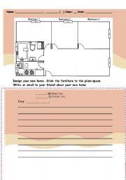 English worksheet Design a dream home