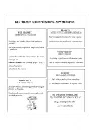 English Worksheets: Expressions