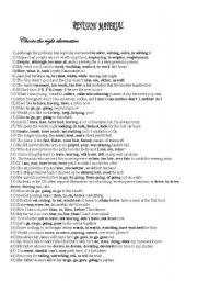 English Worksheets: revision sentences