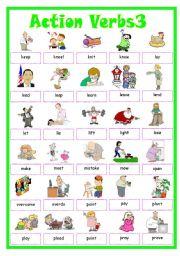 English Worksheets: Action Verbs3
