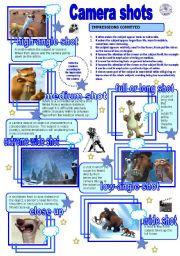 English Worksheets: Camera shots
